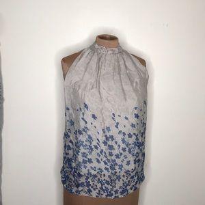 Silk Top Size Medium Sleeveless High Neck New